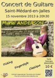 Affiche du concert de Muriel ANDERSON